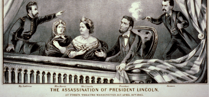 Currier and Ives, The Assassination of Lincoln at Ford's Theater, April 14, 1865. (Photo Source: Wikipedia)