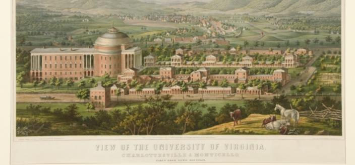 View of the University of Virginia by Edward Sachse