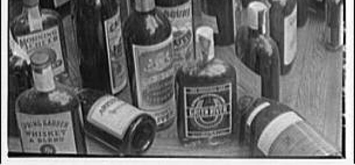 Liquor Bottles in D.C. Around 1920 (Source: Library of Congress, Theodor Horydczak Collection)