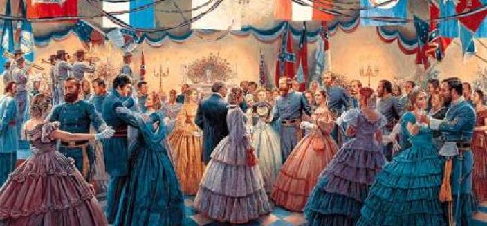 """A depiction of a stereotypical """"Old South Ball."""""""