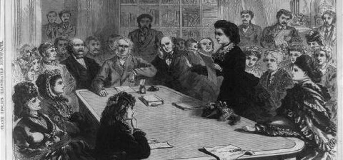 Victoria Woodhull speaks in front of the Judiciary Committee on January 11, 18. I