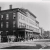 Black and white photograph of the 100 Block of North Fairfax Street, taken 1861-1865. (Photo source: Wikimedia Commons.)