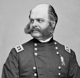 General Ambrose E. Burnside, the father of the sideburn. (Source: Wikipedia)