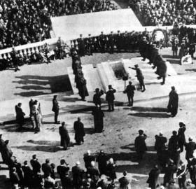 Burial of the first official unknown soldier from World War I, on Nov. 11, 1921. Credit: U.S. Army