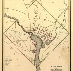1835 map showing Alexandria as part of original District of Columbia. (Source: Library of Congress)