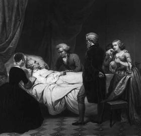 """Life of George Washington The Christian death"" painted by Junius Brutus Stearns (Source: Library of Congress)"