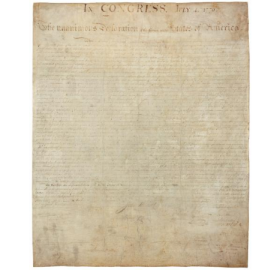 The Engrossed Declaration of Independence, circa. 1776 (source: Library of Congress)