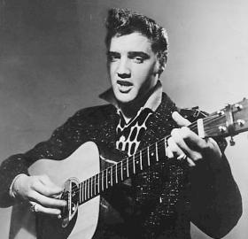 The first national television appearance of Elvis Presley, January 28, 1956. (Source: By CBS Television [Public domain], via Wikimedia Commons)