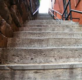"The ""Exorcist"" stairs in Georgetown, which did not figure in the actual case that inspired the movie. (Credit: Sarah Stierch, Wikimedia Commons)"