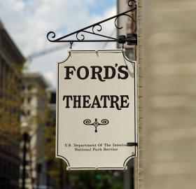 Ford's Theatre sign. (Credit: Flick user @mr_t_in_dc Licensed via Creative Commons Attribution-NonCommercial-NoDerivs 2.0 Generic)