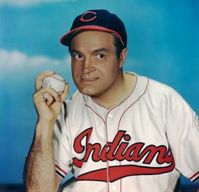 Bob Hope in Cleveland Indians uniform (Credit: Bettmann / Getty)