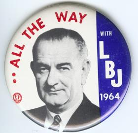 Buttons like this could be seen around D.C. in 1964 as District residents voted in their first Presidential election. (Source: ebay)