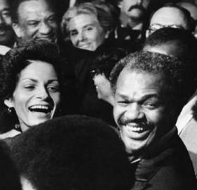 Marion and Effi Barry on January 2, 1979, after Mr. Barry was sworn in as mayor. (Photo credit: Star Collection, DC Public Library; © Washington Post)