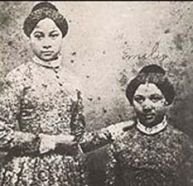 After the Pearl was captured and returned to Washington, many of the slaves on board were sold to the deep South. Emily and Mary Edmonson (above) had a better fate when their freedom was purchased with funds raised by Henry Ward Beecher's Congregational Church in Brooklyn, New York. (Photo source: Wikipedia)