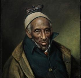 Portrait of Yarrow Mamout by Chales Wilson Peale, 1819.