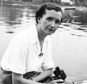 Rachel Carson at Woods Hole, MA, 1950. (Courtesy of the Linda Lear Center for Special Collections & Archives, Connecticut College)
