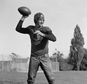 Redskins quarterback Sammy Baugh (Source: Library of Congress)