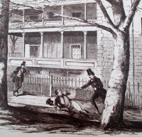 Sketch of Daniel Sickles shooting Philip Barton Key (Source: Historical Society of Washington)