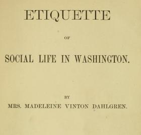 Etiquette of Social Life in Washington book cover