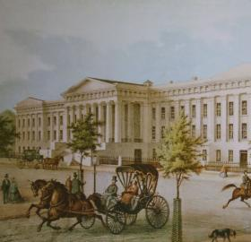 Patent Office in 1855 after it was rebuilt. (Source:  Cliff - Flickr: The Patent Office, CC BY 2.0, https://commons.wikimedia.org/w/index.php?curid=17697085)
