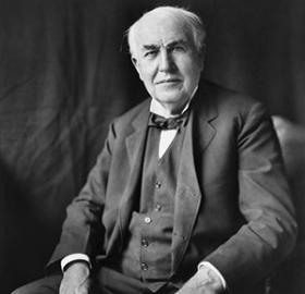 As the nation geared up for World War I, inventor Thomas Edison urged the government to fund and create a laboratory to further research toward national defense. It took a few years, but he finally got his wish. (Photo source: Wikipedia)
