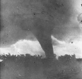 A tornado like this one ripped through the D.C. area on November 17, 1927. (Source: Library of Congress)
