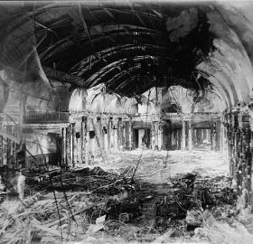The recently renovated ballroom of the Willard Hotel was destroyed by fire on April 23, 1922. (Photo source: Library of Congress)