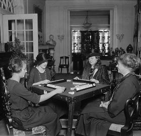 Women playing Mah Jongg in Washington, December 30, 1922. (Source: National Photo Company Collection, Library of Congress)