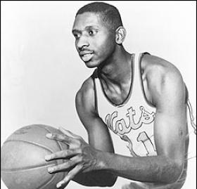 Alexandria's Earl Lloyd broke the color barrier in professional basketball when he debuted for the Washington Capitols on October 31, 1950. (Photo source: NBA.com)